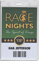 Race Night On-Screen Race Card with Odds